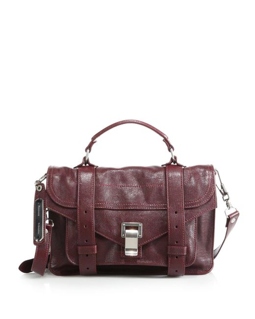 Proenza Schouler | Purple Ps1 Tiny Leather Satchel | Lyst
