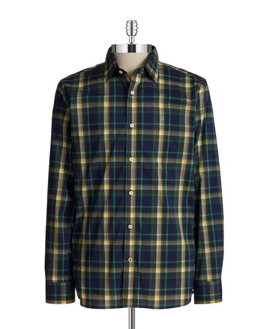 Victorinox | Blue Morgan Plaid Sportshirt for Men | Lyst