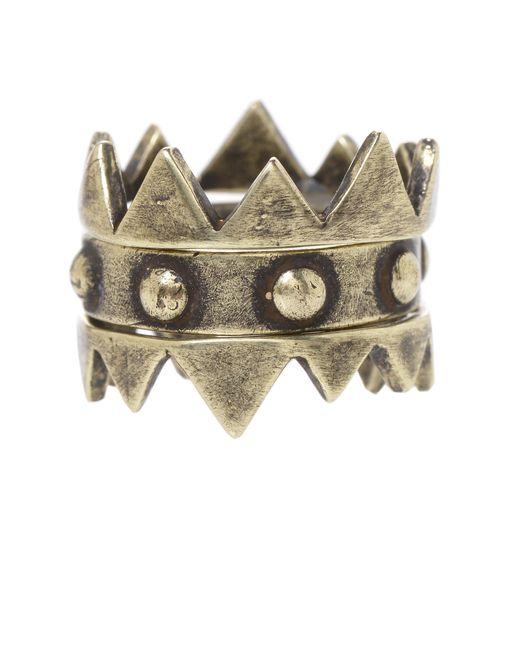 Jill Golden   Metallic Crown Stacking Rings   Lyst