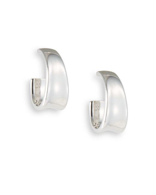 Saks Fifth Avenue | Metallic Sterling Silver Oval Hoop Earrings | Lyst