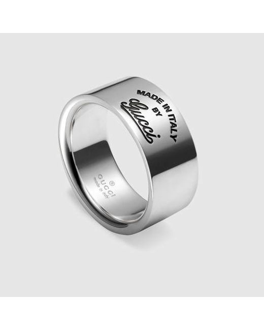 Gucci | Metallic Ring With Trademark for Men | Lyst