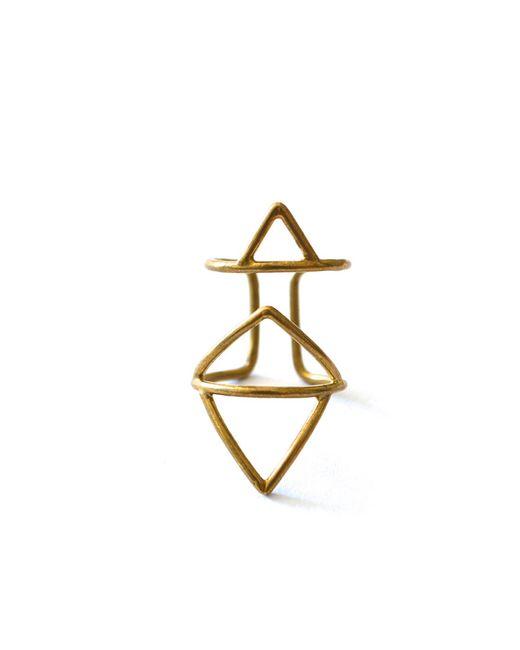 Forever 21   Metallic Amarilo Axiom Ring   Lyst
