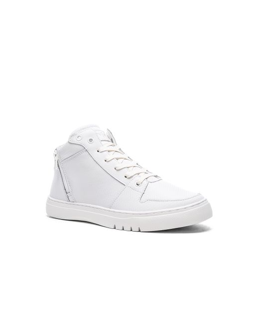 creative recreation adonis mid leather sneakers in white