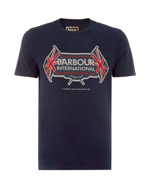 Barbour | Blue T-shirt for Men | Lyst