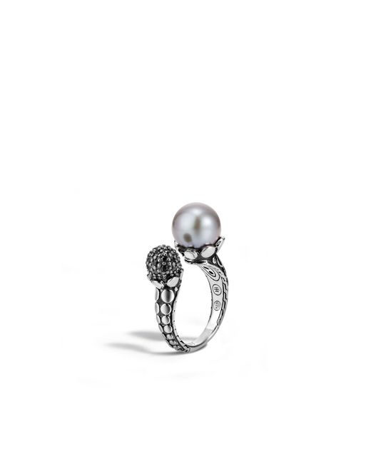 John Hardy | Metallic Dot Ring With Pearl And Black Sapphire | Lyst