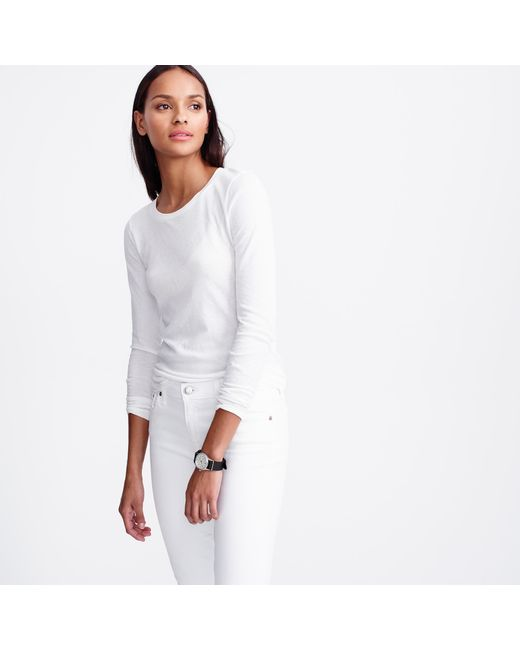 J.Crew | White Tissue Turtleneck T-shirt | Lyst