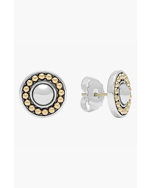 Lagos | Metallic 'enso' Two-tone Stud Earrings | Lyst