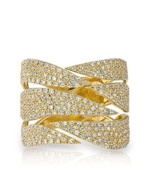 Anne Sisteron | Metallic 14kt Yellow Gold Diamond Flame Ring | Lyst