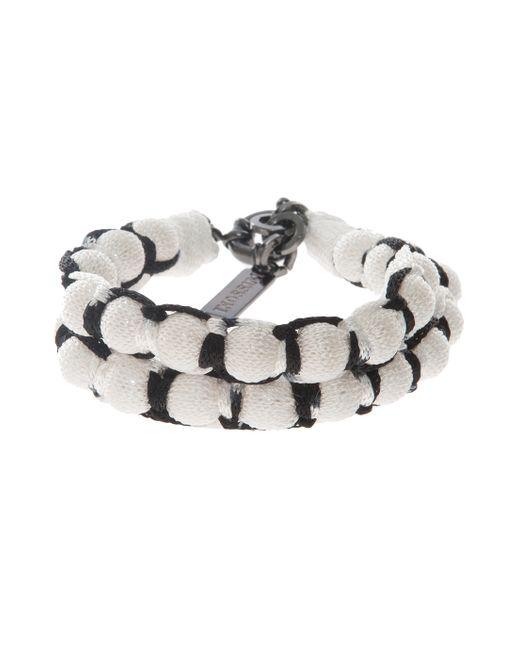 Missoni | White Roped Double Ball Bracelet | Lyst