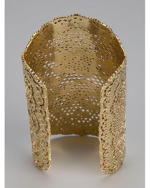 Aurelie Bidermann   Metallic Vintage Lace Cuff   Lyst