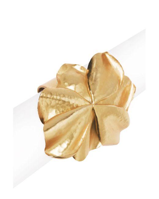 Natori | Metallic Josie Metal Floral Cuff | Lyst