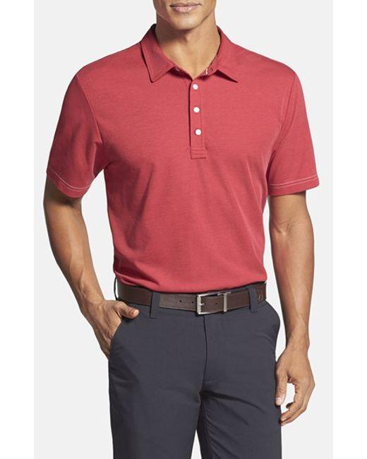 Travis Mathew | Red 'crenshaw' Trim Fit Golf Polo for Men | Lyst