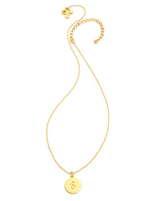 Kate Spade   Metallic Letter Pendant Necklace   Lyst