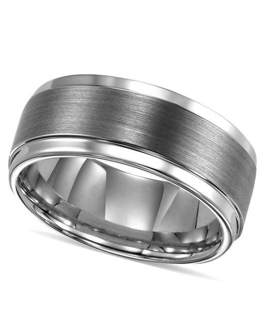 Triton Men S Ring Tungsten Carbide Comfort Fit Wedding