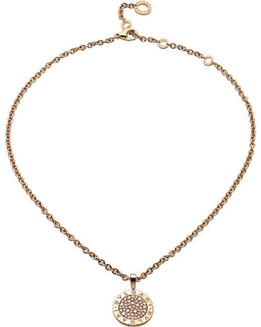 BVLGARI | - Reva 18kt Pink-gold And Diamond Necklace | Lyst