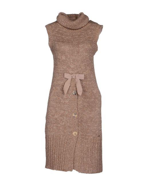 GAUDI   Brown Short Dress   Lyst