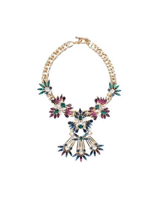 Anton Heunis   Multicolor Multi Floral Crystal Cluster Necklace   Lyst
