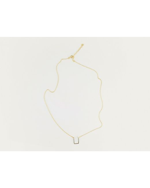 By Philippe | Metallic Gold Tab Necklace | Lyst