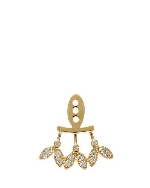 Yvonne Léon   Metallic Diamond Leaf Earring   Lyst