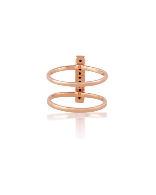 Anna Sheffield | Metallic Rose Gold Licol Ring | Lyst