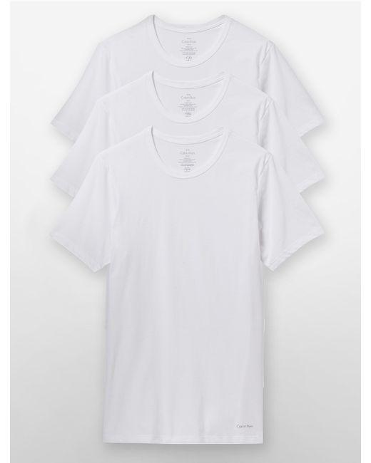 Calvin Klein | White Underwear Slim Fit 3-pack Crewneck T-shirt for Men | Lyst