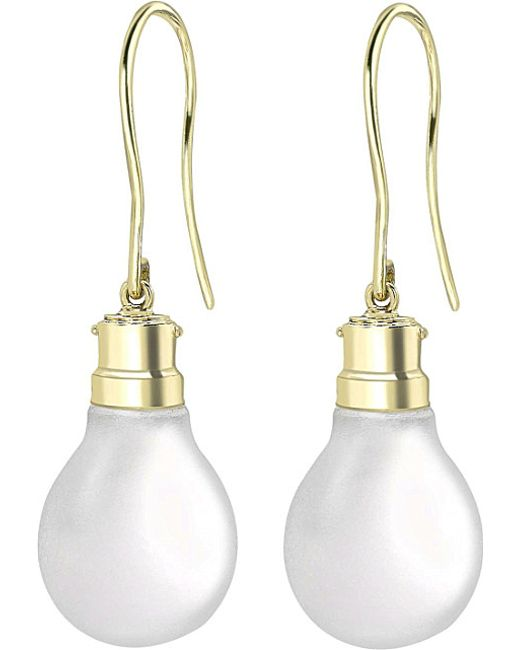Theo Fennell | Metallic 18ct Gold Halogen Light Bulb Earrings | Lyst