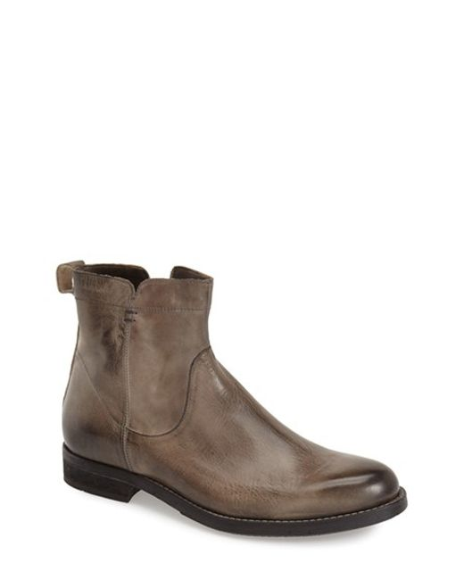 Bacco Bucci | Gray 'graz' Zip Boot for Men | Lyst