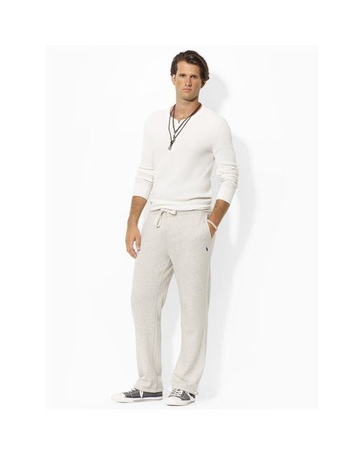 Polo Ralph Lauren | Brown Fleece Athletic Pant for Men | Lyst