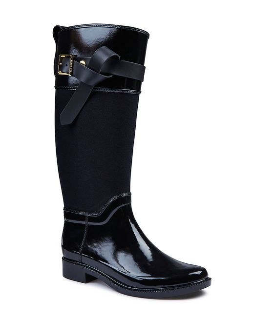 Ted Baker | Black Hampto Knee-high Rubber Boots | Lyst