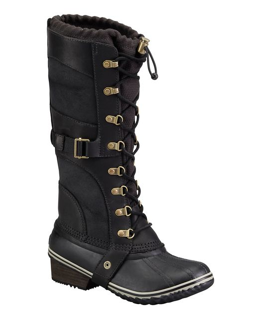 Sorel | Black Conquest Carly Boots | Lyst