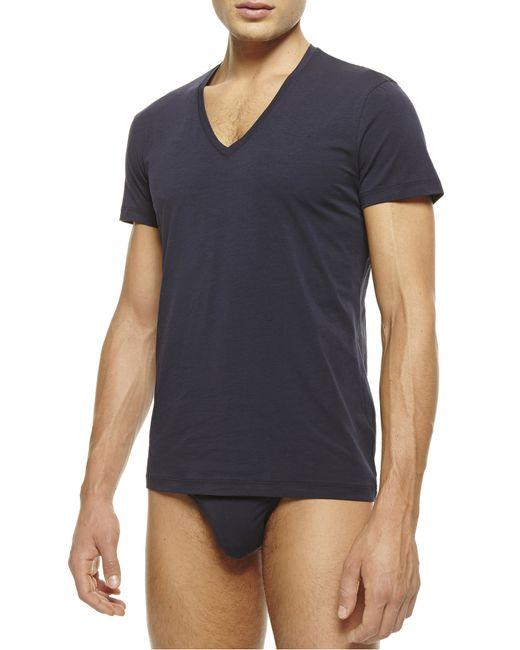 La Perla   Blue New V-neck T-shirt for Men   Lyst
