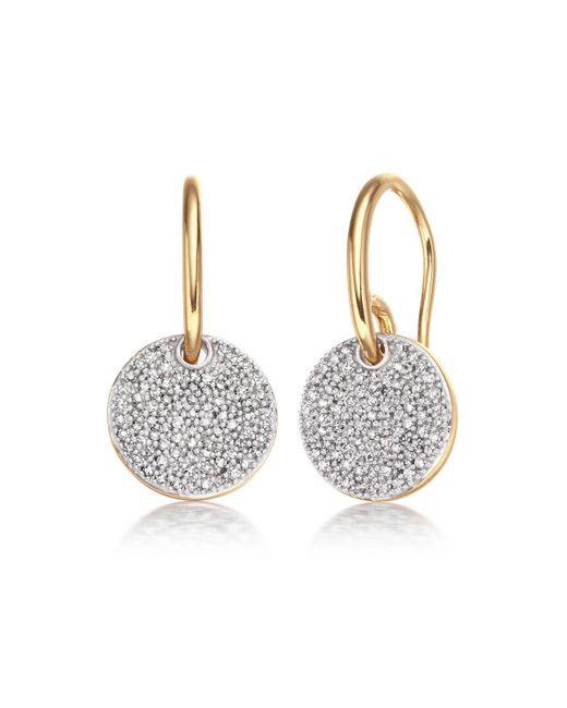 Monica Vinader | Metallic Ava Disc Drop Earrings | Lyst