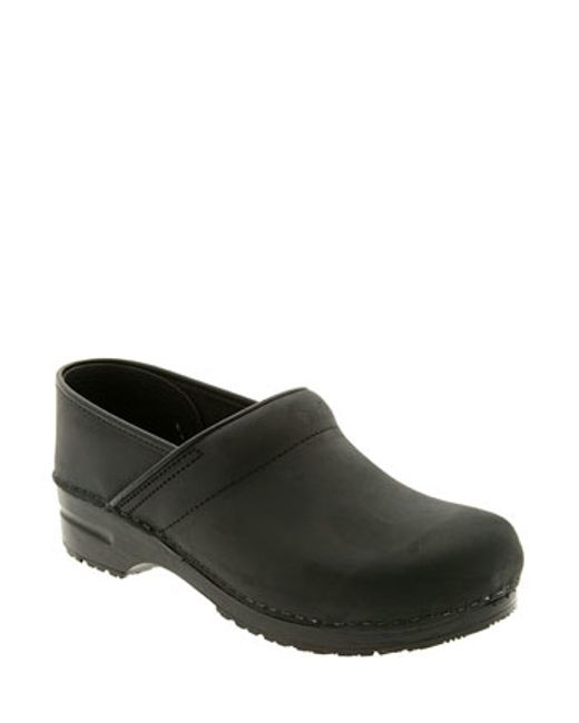 Dansko | Black 'professional' Oiled Leather Clog | Lyst