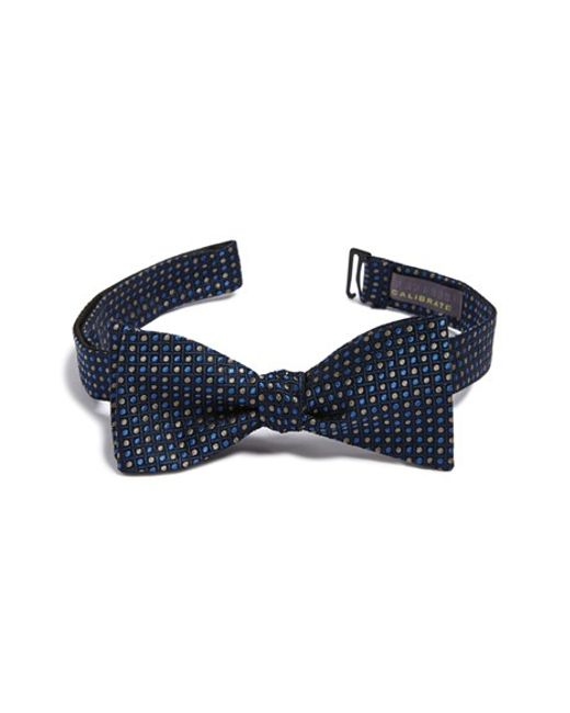 Calibrate | Blue 'madure' Silk Bow Tie for Men | Lyst