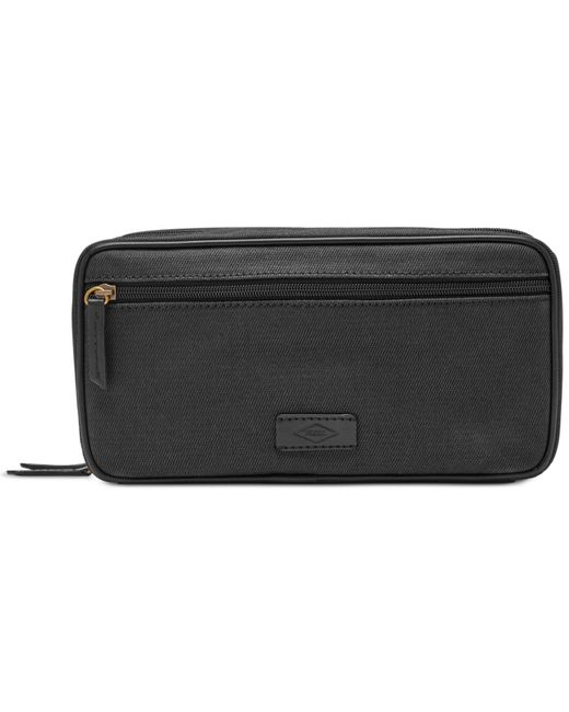 Fossil | Black Double-zip Natural Fabric Shave Kit for Men | Lyst