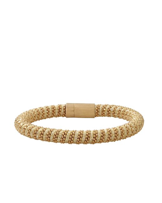Carolina Bucci | Metallic Twister 18-karat Rose Gold-plated And Silk Bracelet | Lyst