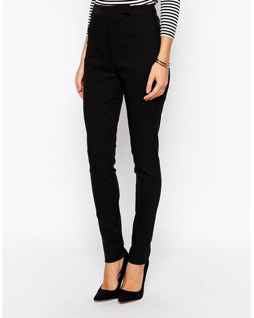 ASOS DESIGN Tall high waist trousers in skinny fit. £ ASOS DESIGN high waist trousers in skinny fit. £ ASOS DESIGN ankle length stretch skinny trousers with zip side pockets. £ Only leather look pant. £ Lovedrobe pu biker legging in black. £
