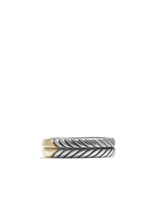 David Yurman | Metallic Modern Chevron Band Ring With 18k Gold, 7mm for Men | Lyst