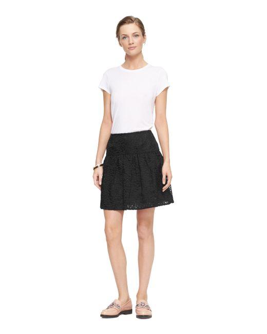 Kate Spade | Black Rose Organza Skirt | Lyst