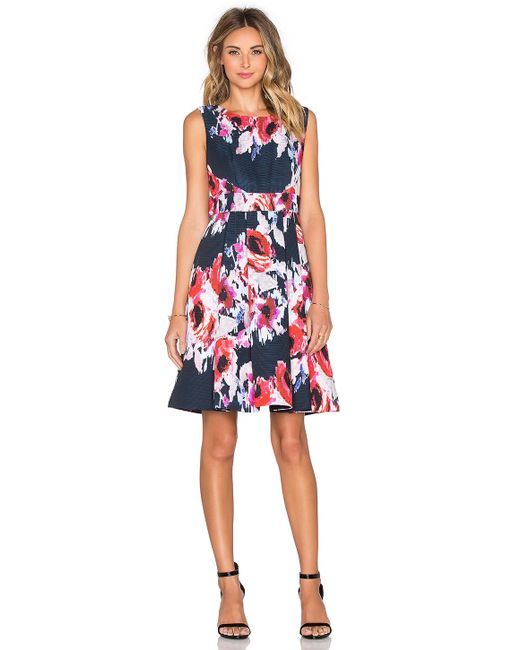 Kate Spade | Multicolor Hazy Floral Fit & Flare Dress | Lyst