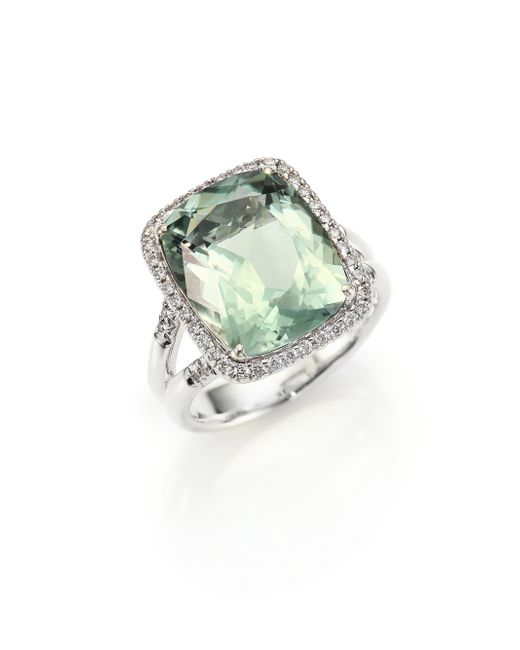 John Hardy Classic Chain Diamond Prasiolite Amp Sterling