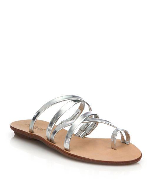 Loeffler Randall   Sarie Sandal Silver Metallic   Lyst