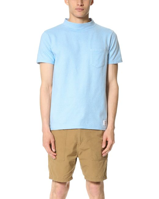 Bedwin And The Heartbreakers Short Sleeve Mock Neck Tee In