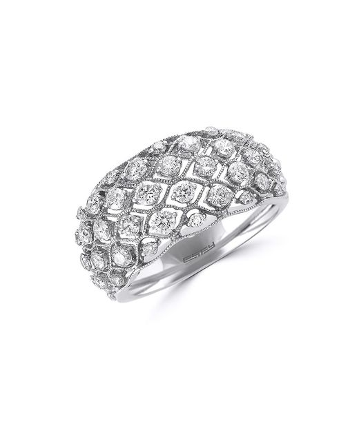 Effy | Pave Classica Diamond And 14k White Gold Dome Ring, 1 Tcw | Lyst