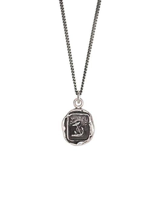 Pyrrha | Metallic 'peace Of Mind' Talisman Pendant Necklace | Lyst