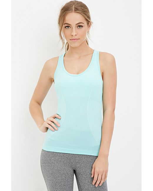 Forever 21 | Blue Active Seamless Athletic Tank | Lyst