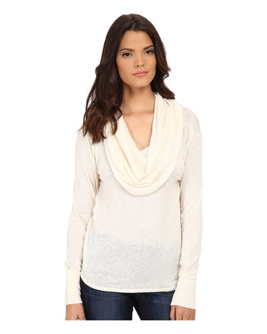 LNA | Natural Scarf Top | Lyst