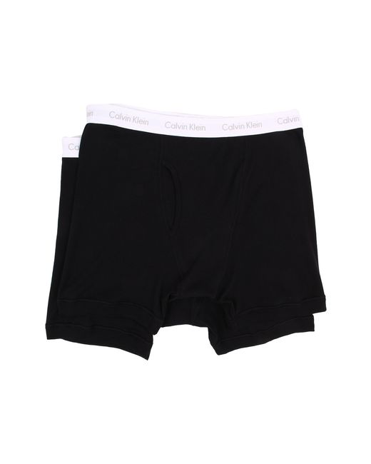 Calvin Klein | Black Big & Tall 2-pack Boxer Brief for Men | Lyst