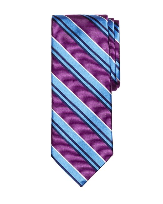 Brooks Brothers | Purple Bold Twin Stripe Tie for Men | Lyst