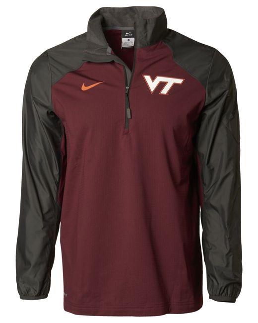 Nike Men S Virginia Tech Hokies Defender Hybrid Half Zip